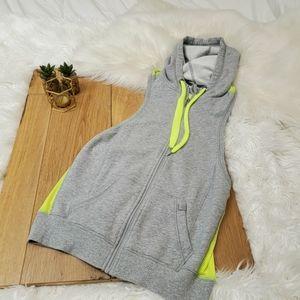 VSX sport Gray Sleeveless hoodie